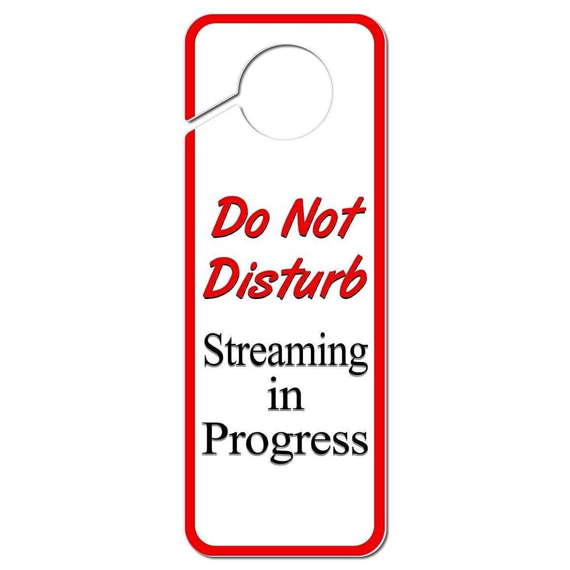Graphics and More Do Not Disturb Streaming in Progress Plastic Door Knob Hanger Sign
