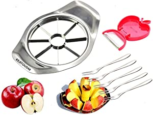 KEJITOUDM Apple Slicer and Corer Apple Cutter Slicer Peeler Corer and Stainless Steel Pear Peeler Pineapple Soap Cutter Slicer Vegetable Cutter Slicer Corer Heavy Duty Remover Kitchen aid