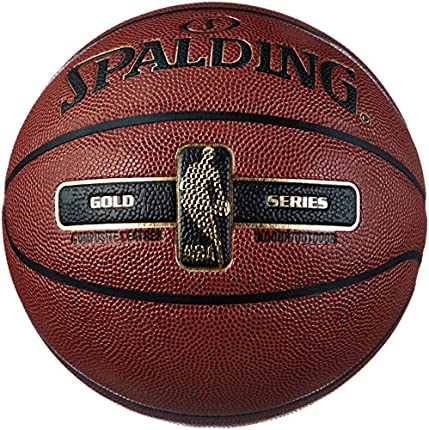 Spalding NBA Gold Ball Balón de Baloncesto, Unisex Adulto