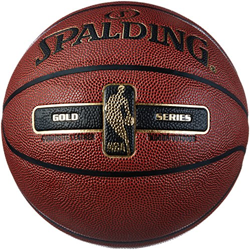 Spalding NBA Gold Basketball Ball, orange, 5