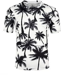 2019 Mens Fashion Print Short Sleeve Casual T-Shirt Tops Blouse