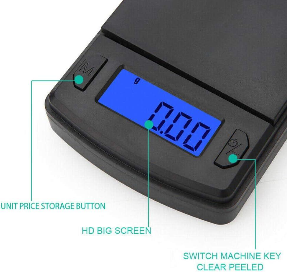 500G X 0,01G Digitale Mini-Taschenwaage F/ür Gold Silber Schmuck K/üchenwaagen Balance Gramm K/üchenwaagen-100 G 0,01 G Taschenwaage Feinwaage Digitalwaage Waage 100//200//300
