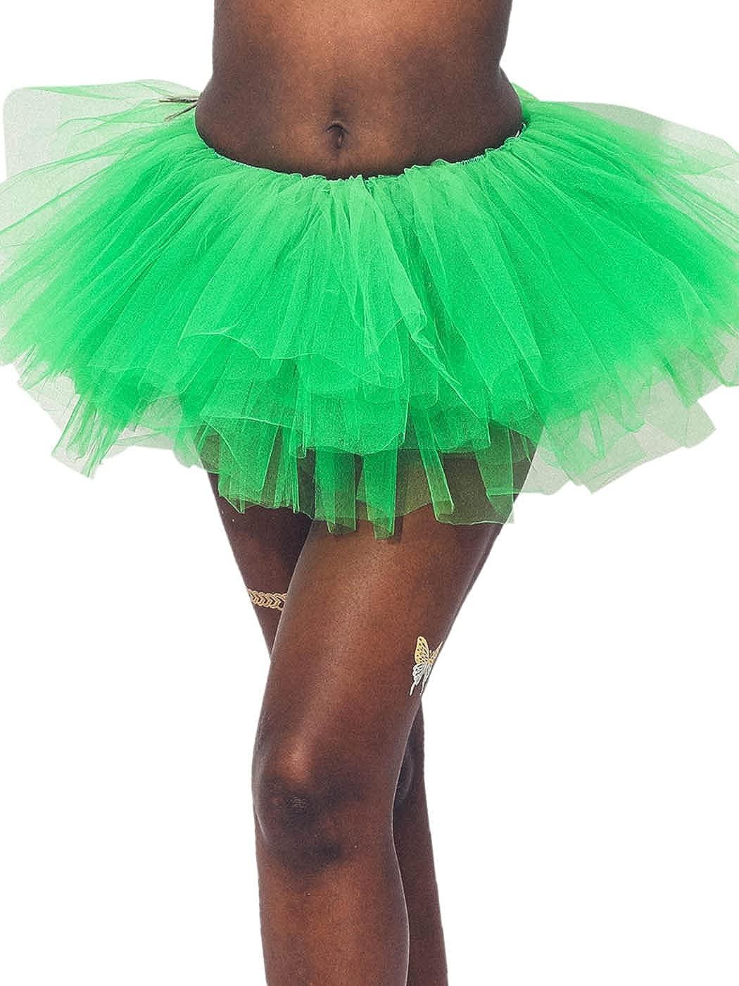 TWINKLEDE Women's Tulle Tutu Skirt Classic Elastic Layered Ballet Tutu Skirts for Women and Girls