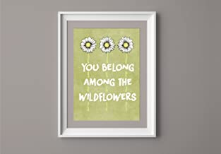 TOM PETTY Inspired Poster Print | 11x14 | Lyric Art | Wildflowers