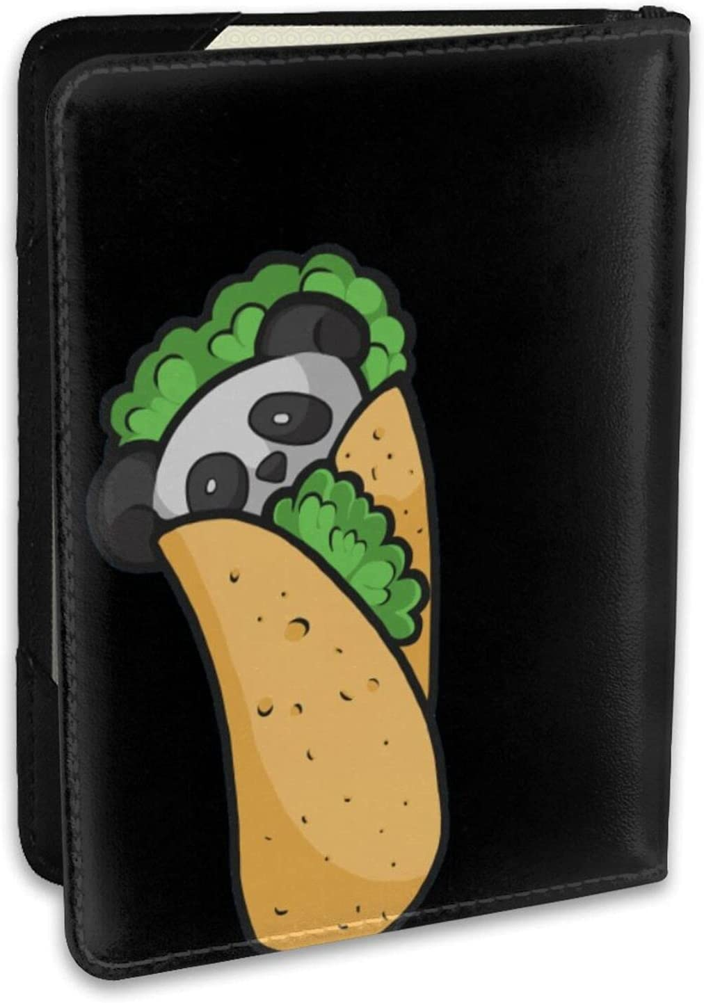 Very popular! Panda Burrito Taco Cute Leather Cover Cred Ranking integrated 1st place Holder Case Passport