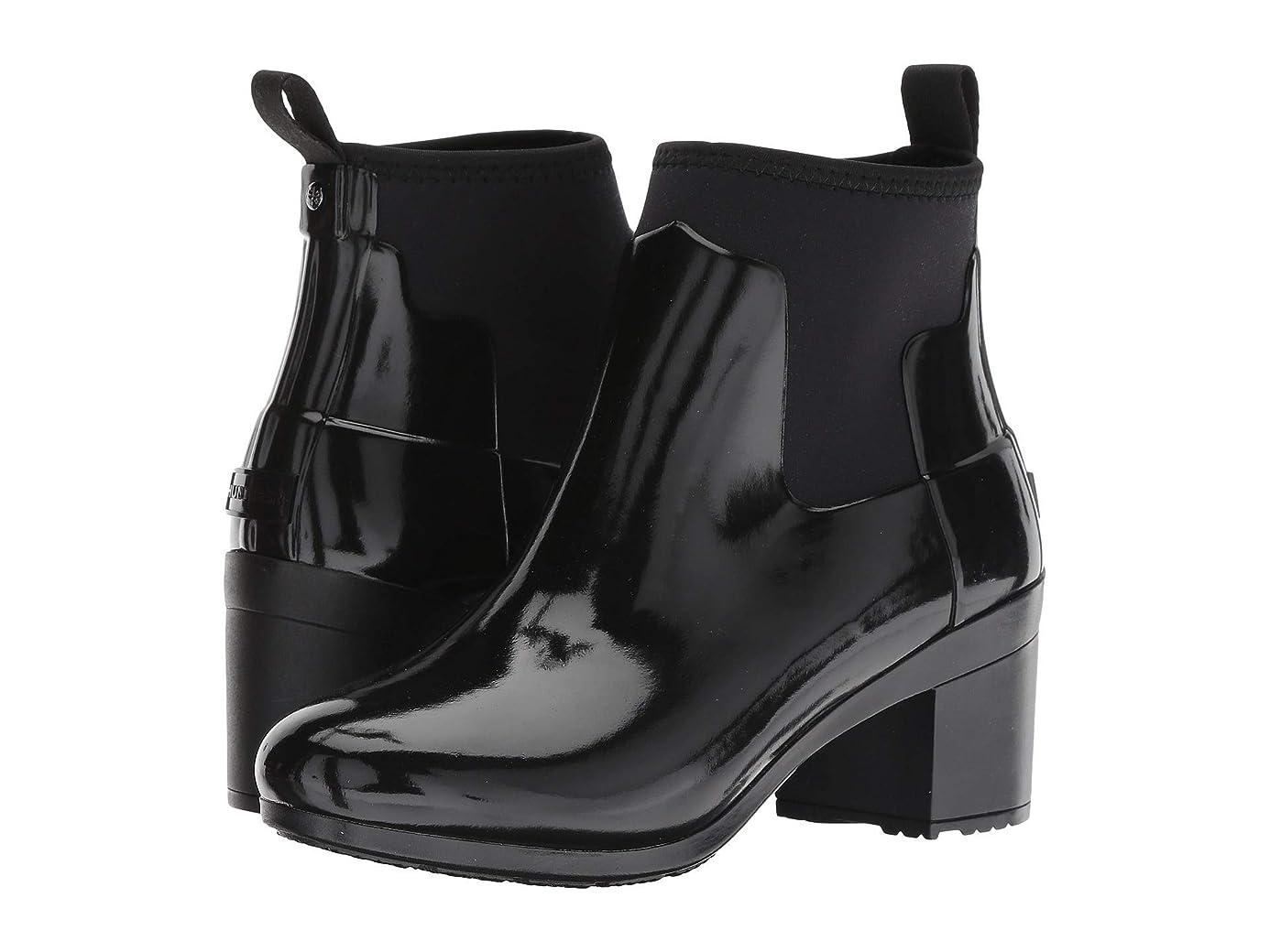 野菜拒否味わう[ハンター] レディースレインブーツ?長靴 Refined Mid Heel Gloss Rain Boots [並行輸入品]
