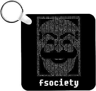 Cloud City 7 Fsociety Binary Code Mr Robot Keyring