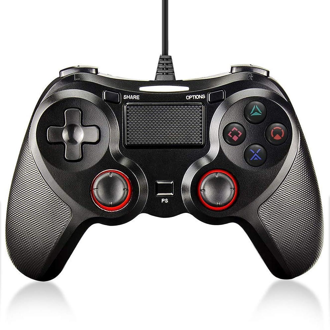 ペインティング飛ぶ委任するFONLAM PS4 PS3 コントローラー DUALSHOCK 4 有線コントローラー 2重振動機能搭載 PlayStation 4 ゲームパッド マット質感 PS4/PS3/PS4 Slim/PS4 Pro/PC 360 Windows 7/8/10 対応 RGBライトバー 砂のような感触 PS4ジョイスティックデュアル バイブレーションモーター ゲームコントローラー 安定性抜群 使用簡単 2m USBケーブル付き
