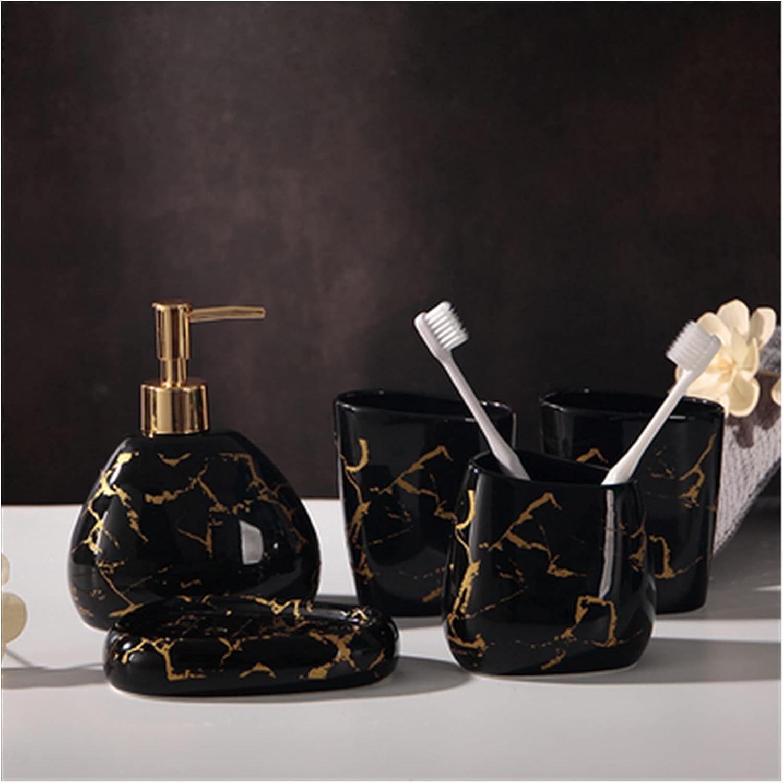 5pcs shipfree Set Gold Marble Ceramics Disp Soap Recommendation Accessories Bathroom