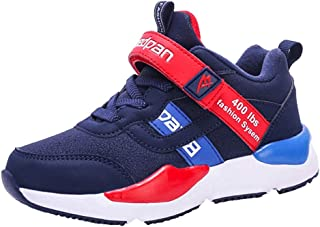 LGXH Breathable Kids Running Shoes Non-Slip Youth Boys Girls Casual Sports Walking Athletics Sneakers