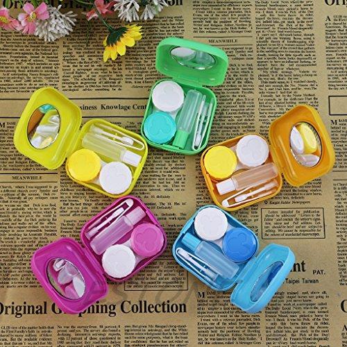 Kalttoy 1 Stück Tragbare Mini-tasche Nette Kunststoff Reise Kontaktlinsen Spiegel Kit Fall Behälterbeutel Zufällige Farbe