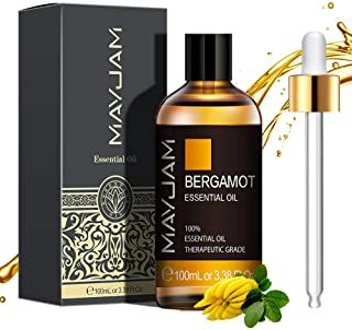 MAYJAM Huiles Essentielles de Bergamote 100 ml, 100% Naturelles Pures Huile Essentielle D'aromathérapie de Qualité Thérape...