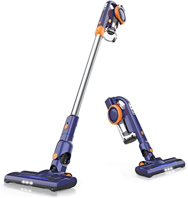 ORFELD Cordless Vacuum, 18Kpa Stick Vacuum 4 in 1, Super Lightweight Vacuum Cleaner, Up to 50 Minutes Runtime, with Dual Digital Motor for Deep Clean Whole House