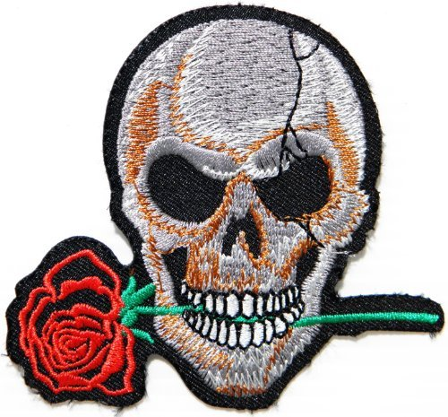 BIKER BABY Skull Ghost Punk Rock Rockabilly Lady Biker Rider Jacket T shirt Ecusson brode Patch Sew Iron on Embroidered