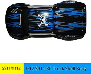 GDOOL 1:12 1/12 RC Trucks Shell Body Cover SJ02 Spare Parts Accessories 15-SJ02 for Hosim High Speed 9115 9112 S911 Foxx Monster Trucks (Blue)
