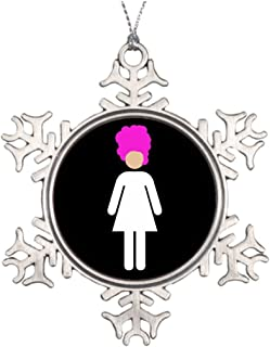 Sedlockyvq Tree Branch Decoration Drag Queen Home Snowflake Ornaments
