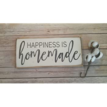 Happiness is Homemade metal home decor wall sign