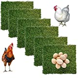 Hamiledyi ChickenNesting Box Pads 6 Pcs Artificial Grass Rug Carpet Synthetic Turf Mat Nest Box Bedding for Chicken Coop Pet Garden Lawn Indoor Outdoor 12