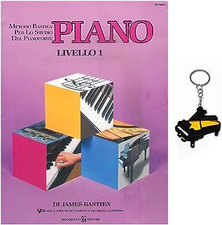 Piano (nivel 1) – Método Bastien para el estudio del piano con llavero Gifft ® Piano de regalo