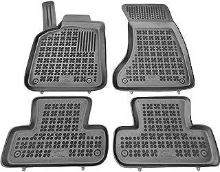 Color Negro 2008-2017 con Logo 4 Clips 8R Alfombrillas a Medida para Audi Q5 55x4 Carsio L105-CARP-CUT-1016-