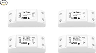 Smart WiFi Light Switch Wireless Relay Switch Module Remote Control Home Automation Timers Compatible with Alexa Echo Google Home Iphone Android App,No Hub Required (4 pack)
