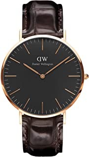 Daniel Wellington Classic York, orologio da uomo in pelle marrone scuro/oro rosa, 40 mm prezzo