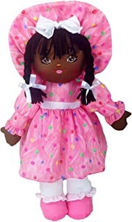 """Anico Well Made Play Doll for Children Sweetie Mine, African American, 18"""" Tall, Pink"""
