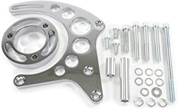 A-Team Performance Long Water Pump Alternator Bracket Compatible with Chevrolet SBC Small Block Chevy V8, GEN. I, Chrome