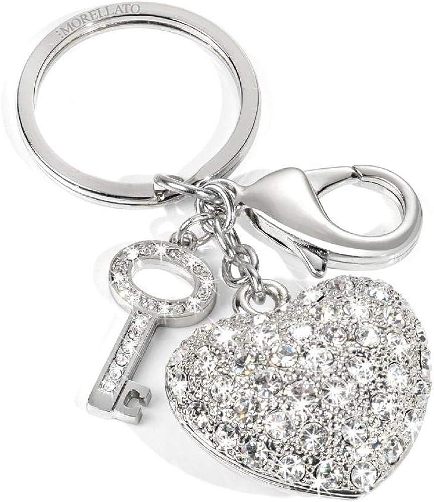 Morellato, portachiavi da donna, collezione magic, in acciaio inossidabile e cristalli SD0307