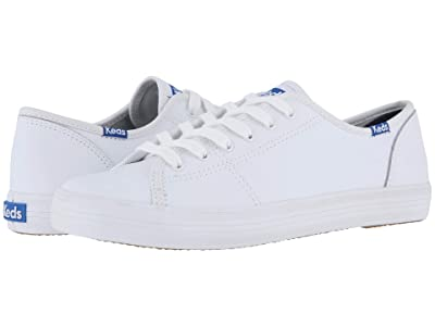 Keds Kickstart Leather (White/Blue) Women