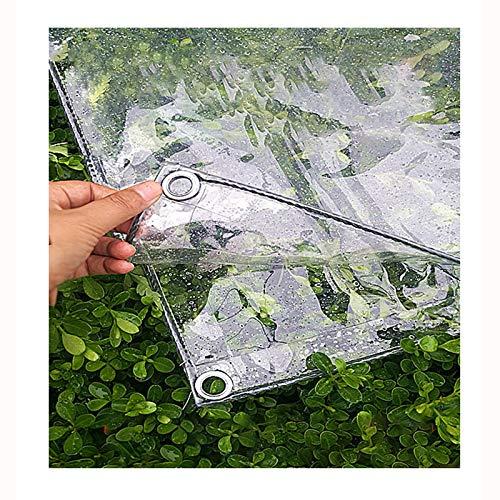 SHIJINHAO Lonas Impermeables Exterior Heavy Duty Transparente 0.3mm Lona Lona Reforzada Ojales Gruesa Lona Impermeable De PVC Hoja De Lona Claro Superiores De La Calidad De La Cubierta Lona For Acampa