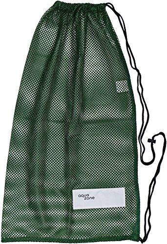 Bolsa de malla con cordón para equipamiento deportivo, para natación, playa, buceo, viajes o gimnasio, Verde