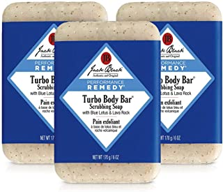 Jack Black - Turbo Body Bar Scrubbing Soap, 6 oz Pack of 3
