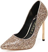 Best christian louboutin gold glitter pumps Reviews