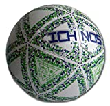 Ichnos Thaima balón de fútbol Sala Rebote controlado Futsal Talla 4 Senior Blanco Azul Verde