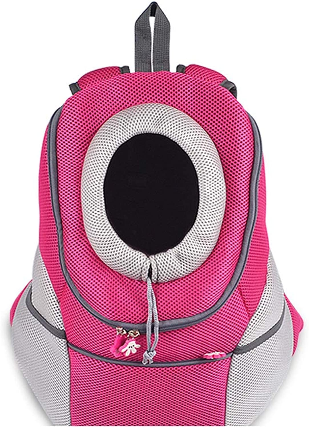 Pet Backpack Outgoing Carrying Case Chest Shoulder Bags Handbag Dog Bags Cat Cage (color   Pink, Size   41X24X46cm)