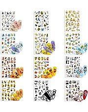 12pcs Nail Art Stickers UñAs DecoracióN, 3d Pegatinas UñAs Decoracion UñAs CalcomaníAs,Para Fiesta de Navidad CumpleañOs UñAs DecoracióN,Tatuaje Tatuajes de UñAs de Verano