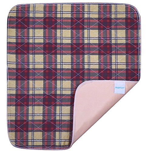 Ultra Waterproof Washable Seat Pad (20 x 22 Inch) for Incontinence - Seniors, Adult, Children, or Pet Underpad - Triple Layer Chair Cover Protector, 24 Ounce Absorbency (Plaid) by BrightCare