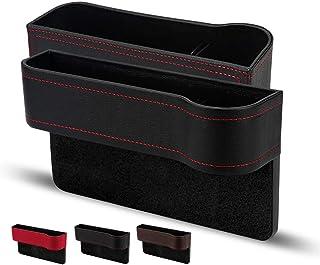 Auto Aufbewahrungsbox,Universal Auto Seat Gap Organizer Aufbewahrungsbox Konsole Seitentasche Ledersitz Spalt Aufbewahrungsbox,Autositz Gap Aufbewahrungsbox Organizer (Schwarz, 2 Stück)