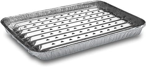 50 Stk. Alu-Grillpfanne Grillschalen BBQ, 34.4 x 22.4cm, mehrfach verwendbar