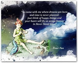 Peter Pan Quotes Wall Art, 8