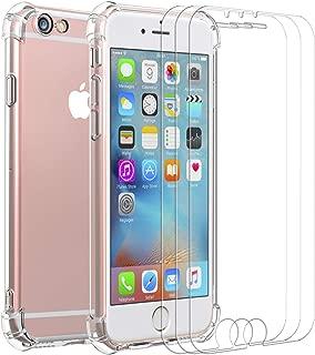 COVER iPhone 6 6s Custodia Full Body Verde Gomma GEL Fronte Retro