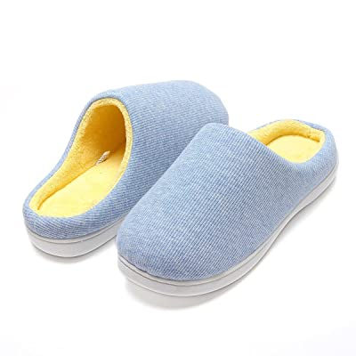 Women's Two-Tone Memory Foam Slipper Anti-skid ...