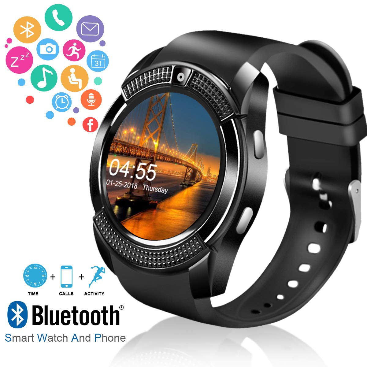 Robesty Smartwatch with Camera