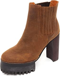 D2246 Tronchetto mujer JEFFREY CAMPBELL zapatos marrón Vintage bota zapatos Woman