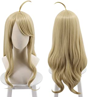 Cfalaicos New Danganronpa V3 Akamatsu Kaede Cosplay Wig Golden Long Synthetic Hair