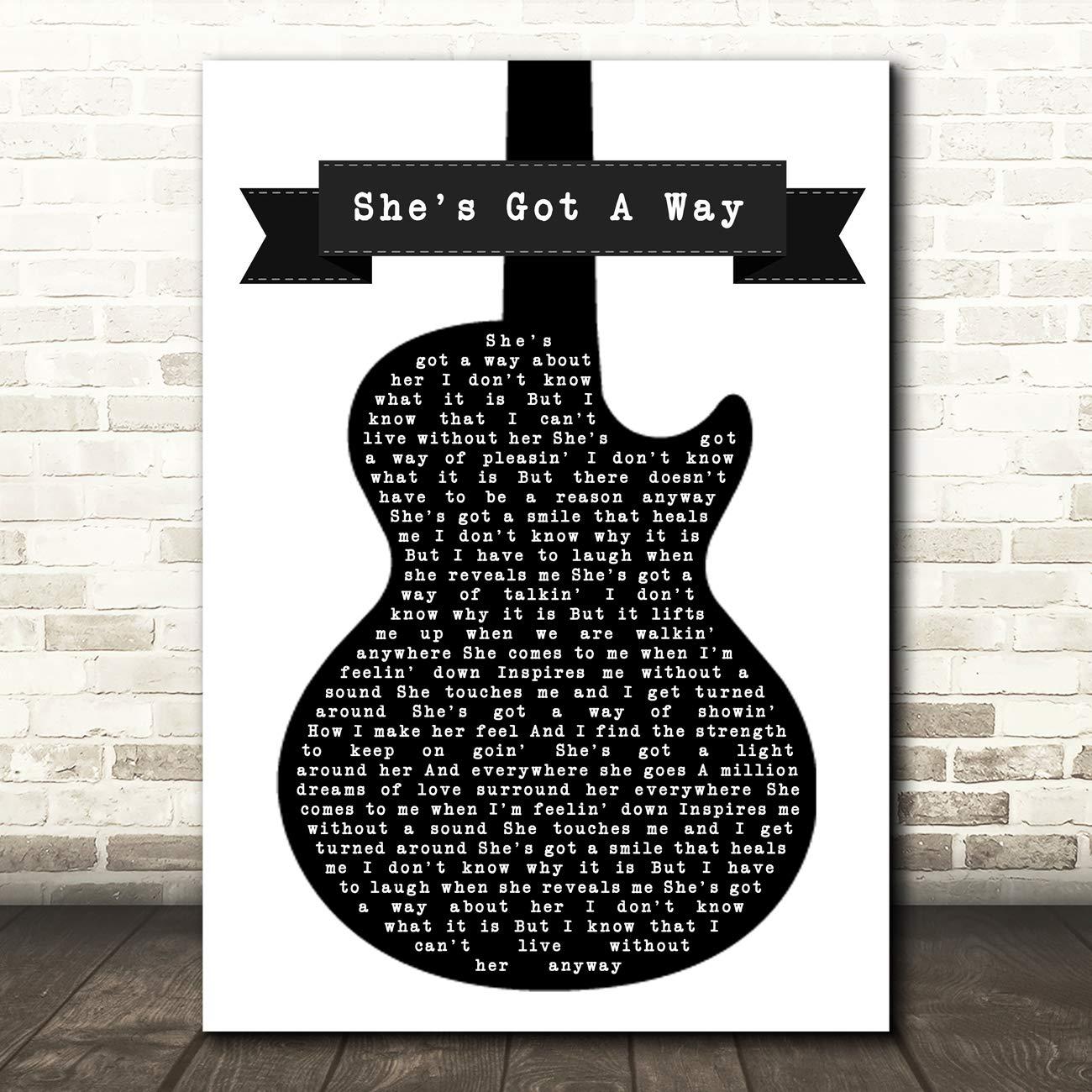 Billy Joel She Got A Way - Canción para guitarra, diseño de letras ...