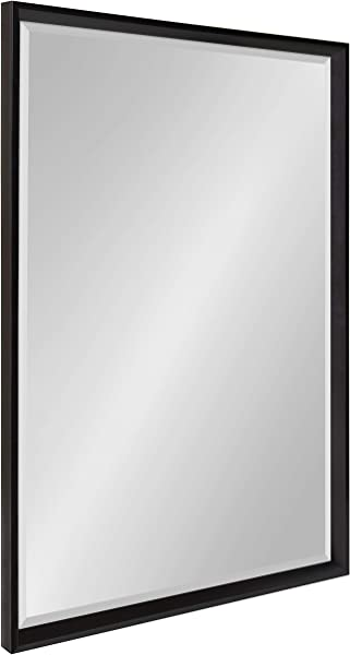 Kate And Laurel Calter Framed Wall Mirror 25 5x37 5 Black