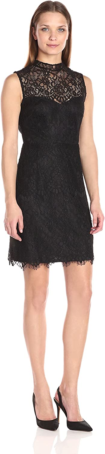 Betsey Johnson Womens Short Cocktail Lace Dress Dress