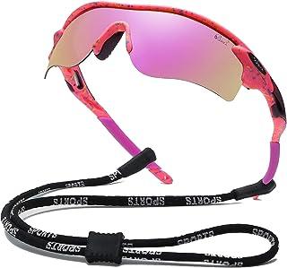 Bevi Polarized Sports Sunglasses for Men Women Baseball Running Cycling Golf Tr90 Durable and Ultralight Frame